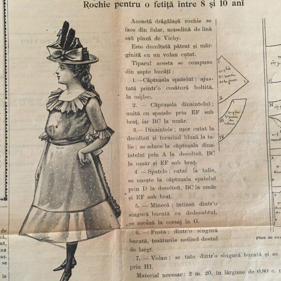 """""""Moda ilustrată"""" – revistă veche de modă, de la 1897-1900"""