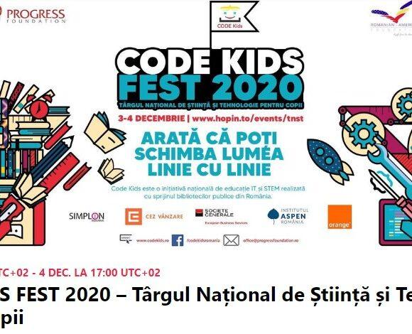 Echipa Kids4Coding de la biblioteca Onești la Târgul Național de Științe și Tehnologie pentru copii