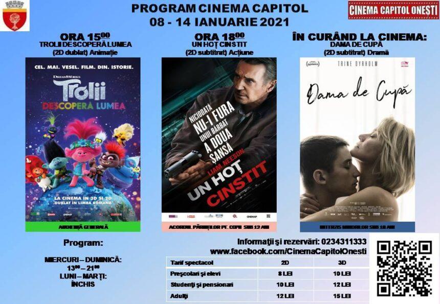 Program Cinema Capitol 8-14 ianurie 2021