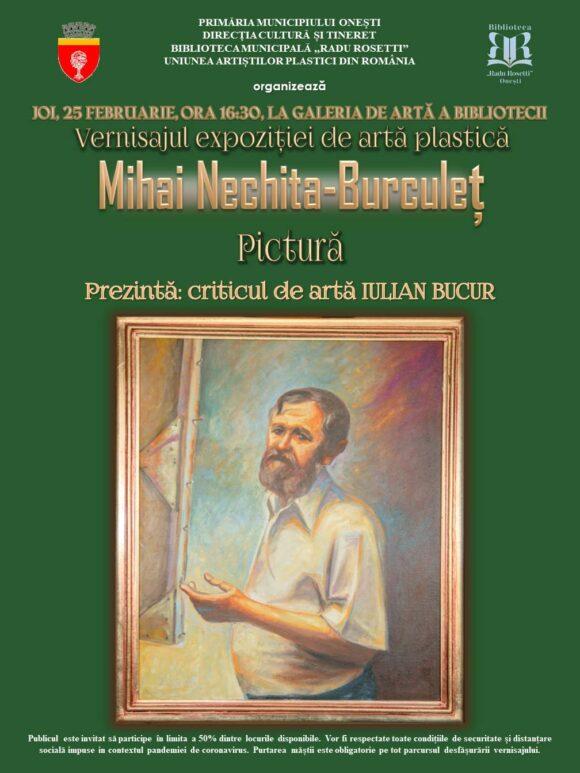 Expoziție de artă plastică – Mihai Nechita-Burculeț