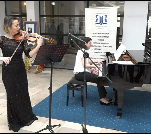 Recital cameral la vioară și pian. O seară de excepție oferită de artistele Corina Marc și Cristina Șoitu