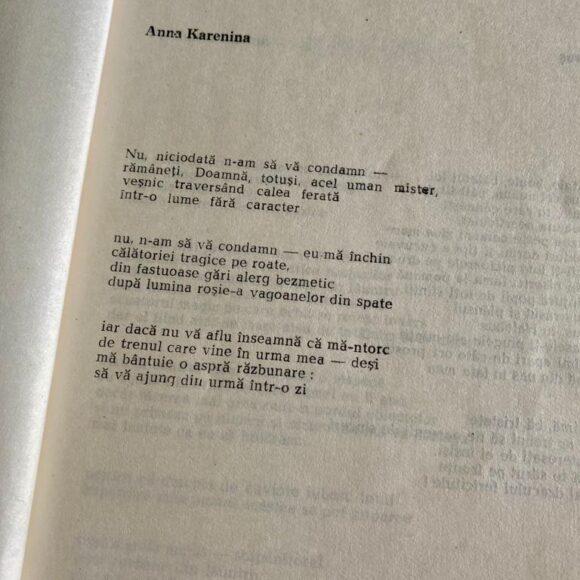 """Poezie pentru suflet: """"Anna Karenina"""" de Ioanid Romanescu"""