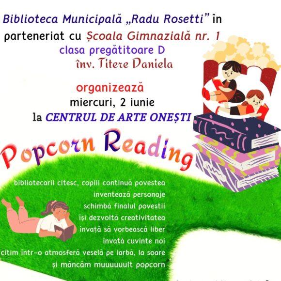 Popcorn Reading – citim și povestim despre cărți într-o atmosferă veselă