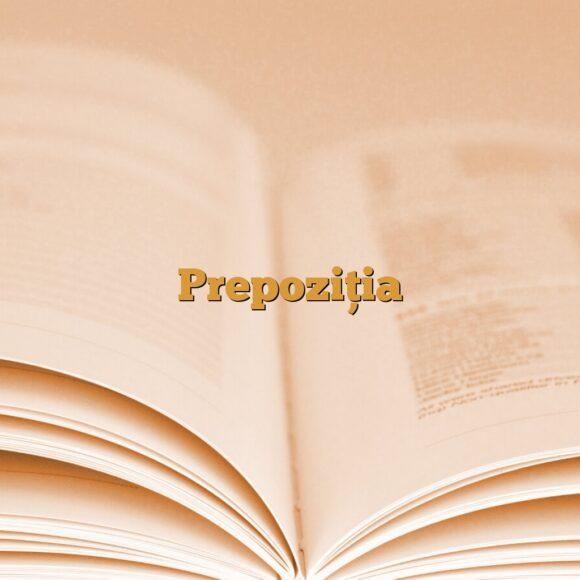 Despre prepoziție + răspunsurile de la exercițiul de gramatică din articolul trecut