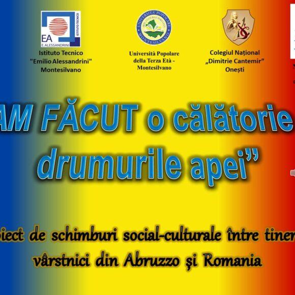Proiect de schimburi social-culturale între tineri și vârstnici din Abruzzo, Italia și Onești, Romania